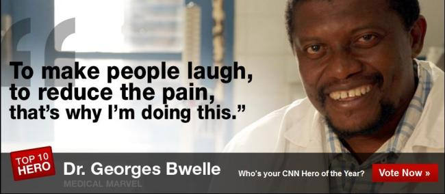 DR GEORGES BWELLE IS A WORTHY CNN HERO, LETS GET VOTING!