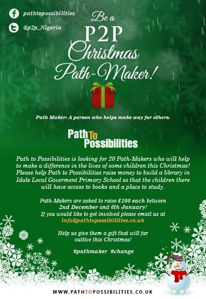 BECOME A PATH TO POSSIBILITIES CHRISTMAS PATH-MAKER