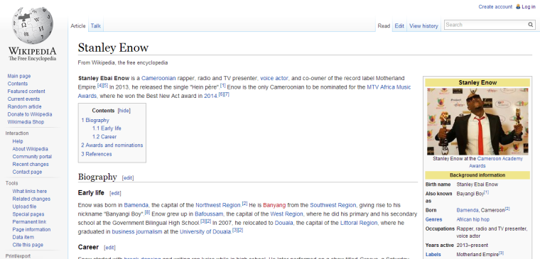 MMPR FOCUS: STANLEY ENOW IS ON WIKIPEDIA!