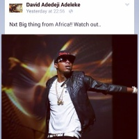 NIGERIA'S DAVIDO SHOWS LOVE TO STANLEY ENOW