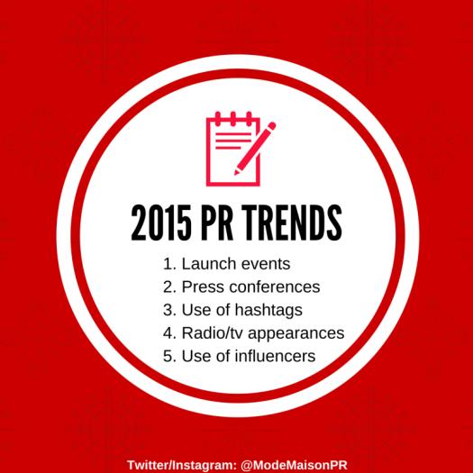 2015 PR Trends
