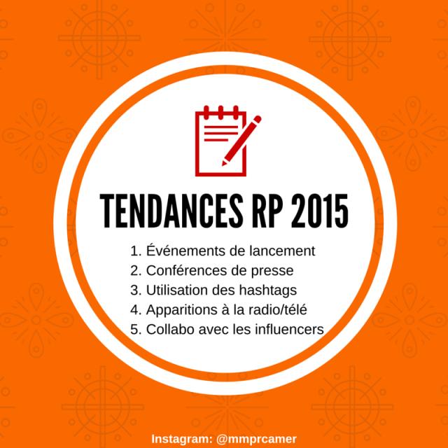 Tendances RP 2015