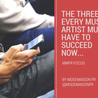 MMPR FOCUS: THE THREE 'C' EVERY MUSIC ARTIST MUST HAVE TO SUCCEED NOW...